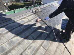 福岡県 粕屋町 アパート 塗装工事 屋根 1液ベストシーラー 下塗り