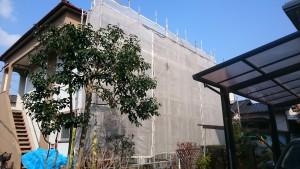 福岡市 博多区 アパート改修 塗装工事 足場仮設 状況