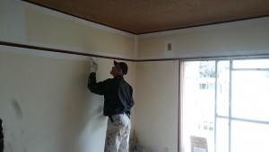 福岡県 南区 自衛隊高宮宿舎 内部塗装工事 施工中