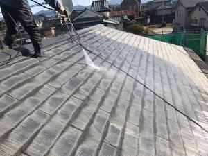 福岡県 粕屋町 アパート 塗装工事 屋根 高圧洗浄