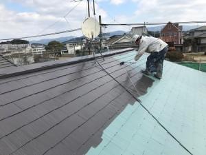 福岡県 粕屋町 アパート 塗装工事 屋根 ファインパーフェクトベスト 2回目