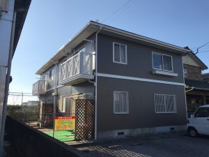 福岡県 粕屋町 アパート 塗装工事 完了