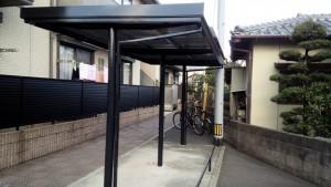 福岡県 福岡市南区 リーベル若久 駐輪場 塗装工事 完了