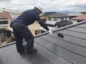 福岡県 久留米市 塗装工事 N様邸 屋根塗装 上塗り1回目