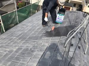 福岡県 久留米市 塗装工事 屋根 下塗り塗装