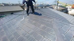 福岡県 久留米市 塗装工事 N様邸 屋根高圧洗浄