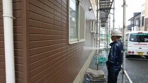 福岡県 糟屋郡 篠栗アパート 塗装工事 高圧洗浄