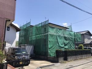 福岡県 久留米市 N様邸 外壁屋根 塗装工事 足場組立