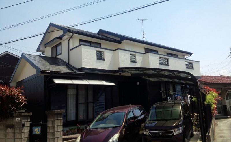 福岡県 春日市 S様邸 外壁 屋根 塗装工事|住宅塗装施工例 ...