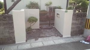 太宰府市 塗装工事 T様邸 外塀塗装