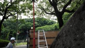 福岡県 太宰府市 筑紫女学園 外灯 塗装工事 施工前