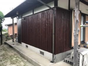 福岡県 那珂川 塗装工事 ステイン2回塗り仕上げ