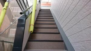 福岡市 西区 アパート塗装工事 階段 防水工事 完了