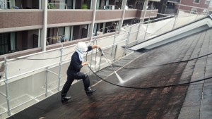 福岡市 西区 塗装工事 コビソル姪の浜 屋根 高圧洗浄