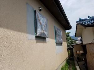 筑紫野市 塗装工事 モルタル補修箇所 塗装 施工前