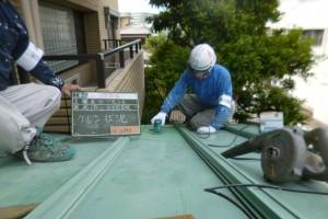 福岡県 福岡市 塗装工事 プレジデント寺塚 板金 屋根 塗装工事