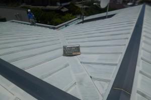福岡市 南区 板金屋根 塗装工事 サーモアイプライマー 完了