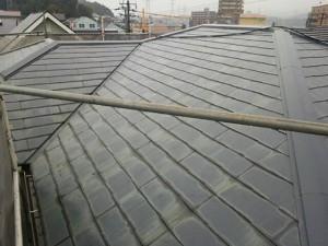 筑紫野市 T様邸 コロニアル 屋根 塗装工事 施工前