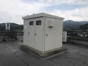 筑紫野市 運送会社 屋上 キューピクル 鉄部 塗装工事 完了