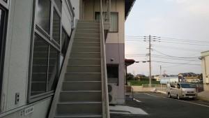 福岡県 フレッシュまるいち 遠賀 工場 鉄骨階段 塗装工事 完了