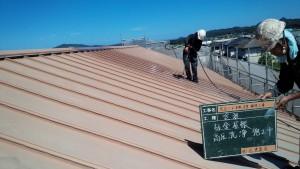 福岡県 糸島市 塗装工事 キリスト教会 板金 瓦棒 屋根 高圧洗浄