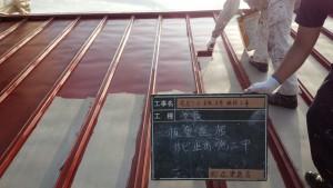 福岡県 糸島市 塗装工事 キリスト教会 板金 瓦棒 屋根 錆止め塗装