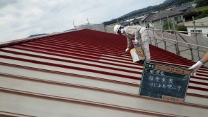 福岡県 糸島市 塗装工事 キリスト教会 瓦棒 板金屋根 錆止め 塗装