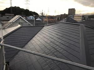 筑紫野市 T様邸 コロニアル 屋根 塗装工事 完了