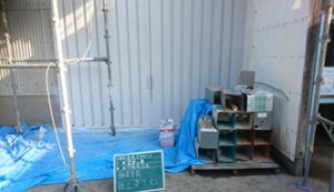 長崎県 壱岐市 壱岐スチロール工場 鉄部 塗装工事 上塗り2回目 完了