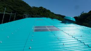 長崎県 壱岐市 壱岐スチロール工場 屋根 塗装工事 完了