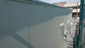 大野城市 A様 所有 テナント 塗装工事 ALC 外壁  上塗り オーデフレッシュSi 完了