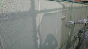 大野城市 A様 所有 テナント 塗装工事 ALC 外壁  上塗り オーデフレッシュSi 1回目
