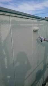 大野城市 A様 所有 テナント 塗装工事 ALC 外壁 塗装 マスチック工法 波型模様 下塗り