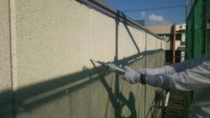 大野城市 A様 所有 テナント 塗装工事 ALC 外壁 シーリング工事 充填中