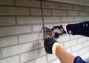 筑紫野市 H様邸 住宅 塗装工事 外壁 シーリング打替え 既存撤去 施工中