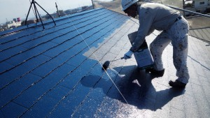 筑紫野市 S様邸 戸建て住宅 コロニアル屋根 塗装工事 ニッペ ファインパーフェクトベスト 塗装 2回目