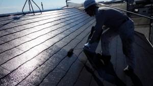 筑紫野市 S様邸 戸建て住宅 コロニアル屋根 塗装工事 ニッペ ファインパーフェクトベスト 塗装 1回目