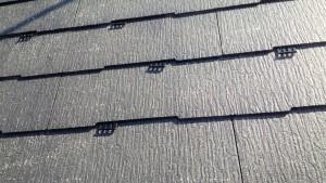 筑紫野市 S様邸 コロニアル屋根 塗装工事 縁切工法 タスペーサー 取付け状況