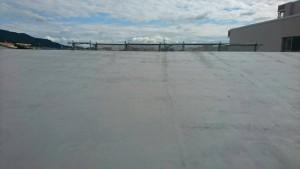 大野城市 レヴール筒井 屋上 防水工事 ウレタン塗膜防水密着工法 メッシュシート貼り 完了