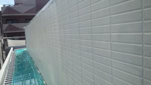 福岡県 福岡市 南区 アパート 塗装工事 ベルツ高宮 外壁下塗り 日本ペイント パーフェクトサーフ 完了