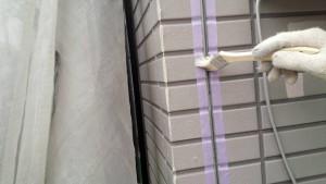 福岡市 南区 アパート 塗装工事 ベルツ高宮 サイディング目地 シーリング打替え工事 プライマー