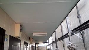 福岡県 福岡市 南区 アパート 塗装工事 ベルツ高宮 日本ペイント 水性ケンエース 軒天 塗装 完了