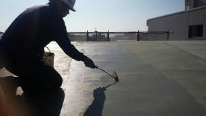 大野城市 レヴール筒井 屋上 防水工事 ウレタン塗膜防水密着工法 カチオン 下地調整材塗布