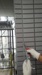 福岡市 南区 アパート 塗装工事 ベルツ高宮 サイディング目地 シーリング打替え工事 既存撤去
