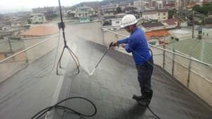 筑紫野市 住宅 塗装工事 コロニアル 屋根 高圧洗浄 施工中