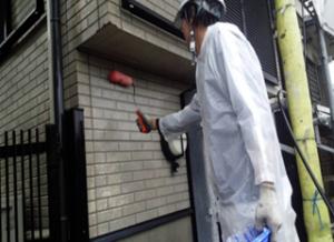 筑紫野市 H様邸 住宅 塗装工事 外壁 サイディング 塗装 下塗り 施工中