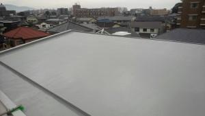 大野城市 レヴール筒井 屋上 防水工事 ウレタン塗膜防水密着工法  完了