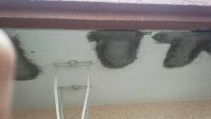 大野城市 レヴール筒井 軒裏 塗装工事 下地補修 モルタル埋戻し 爆裂補修 完了