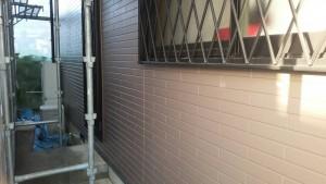 筑紫野市 外壁 塗装工事 A様邸 サイディングボード 塗装 上塗り 日本ペイント パーフェクトトップ 完了