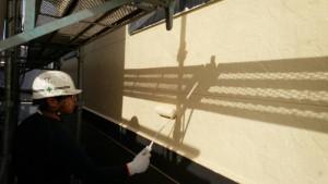 筑紫野市 外壁 塗装工事 A様邸 サイディングボード 塗装 上塗り 日本ペイント パーフェクトトップ 2回目